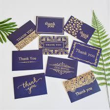 Tarjetas Creativas De Agradecimiento Notas Al Por Mayor Azul