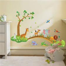 Jungle Animal Across The Bridge Forest Tree Wall Sticker Home Kids Bedroom Decor 9780060215811 Ebay