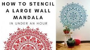 Stencil An Easy Diy Wall Mandala In Under An Hour Youtube