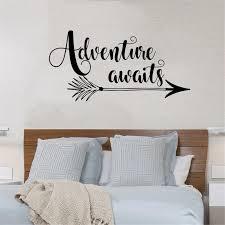 Adventure Awaits Wall Decal Arrow Adventure Camping Wall Sticker Home Decor Design Vinyl Decal Removable Art Wall Decor Wall Stickers Aliexpress