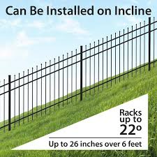 Ironcraft Orleans Orleans 4 Ft H X 6 Ft W Black Aluminum Pressed Point Yard In The Metal Fence Panels Department At Lowes Com