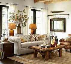 rustic floor lamp behind couch light