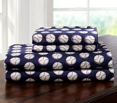 pottery barn baby bedding baseball