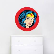 Wonder Woman Wall Decal Wonder Woman Bedroom Decor Wonder Woman Wallpaper Sticker Superhero Wall Design Prime Decals