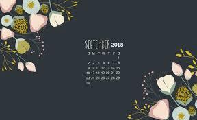 september 2018 calendar wallpapers
