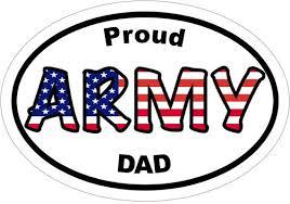 Proud Army Dad Vinyl Decal Army Window Sticker Truck Decal Etsy