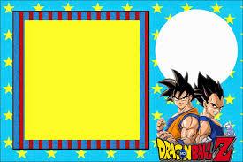 Dragon Ball Z Invitaciones Para Imprimir Gratis Cumpleanos De