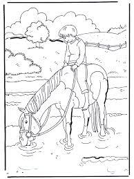 In Het Water Kleurplaten Paarden