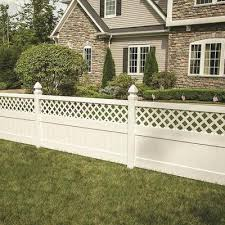 Freedom Actual 3 875 Ft X 7 84 Ft Ready To Assemble Conway Vinyl Lattice Top Vinyl Fence Panel In Stock Hardwarestore Delivery