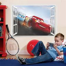 Super Promo 295f1 Cartoon Lightning Mcqueen Window Wall Stickers For Kids Rooms Home Decor Disney Cars Wall Decals Pvc Mural Art Diy Posters Cicig Co