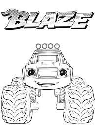 Trends For Blaze Monster Machines Coloring Pages Sugar And Spice