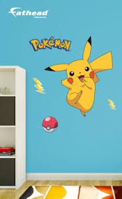 Add Some Fun Adventure To The Walls Of Your Child S Room With These Pokemon Pikachu Removable Vinyl Wall Decals Pokemon Room Kids Rooms Diy Diy Kids Room Girls
