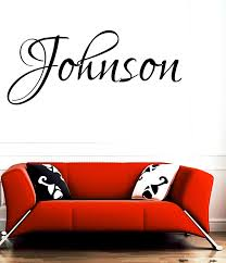 Amazon Com Johnson Family Name Last Name Girl Name Or Boy Name Room Name Wall Quote Art Vinyl Decal Sticker Home Kitchen