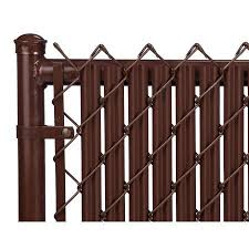 Brown 7ft Ridged Slat For Chain Link Fence Walmart Com In 2020 Chain Link Fence Fence Slats Fence Design