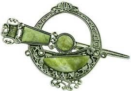 connemara marble celtic brooch