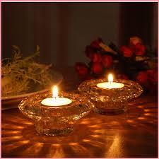 الرجعية شمعدان حامل الشموع الزجاجية تأثيث عيد الحب ضوء الشموع