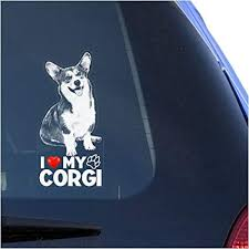 Amazon Com I Love My Corgi Clear Vinyl Decal Sticker For Window Pembroke Welsh Dog Sign Art Print Arts Crafts Sewing