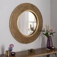 gold round wall mirror 79cm exclusive