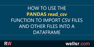 pandas read csv exles for importing