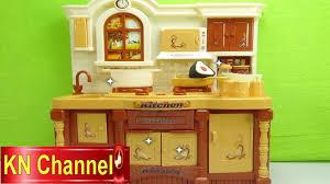 Đồ chơi trẻ em Bé Na làm bếp Nhà bếp giả gỗ nấu ăn cooking Kitchen ...