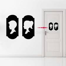 Art Home Decoration Toilet Bathroom Door Sticker Wc Sign Vinyl Sticker Boys And Girls Sign Toilet Decal Ay1181 Wall Stickers Aliexpress
