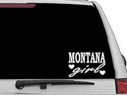 Amazon Com Decal Dan Montana Girl Vinyl Car Truck Window Laptop Sticker Automotive