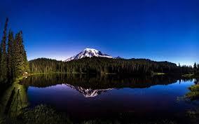 lake mountain summer nature landscape