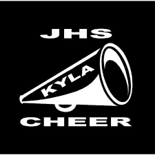 Cheer Megaphone Car Window Decal Sport Kids Ltd