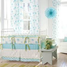aqua dandelion crib bedding the