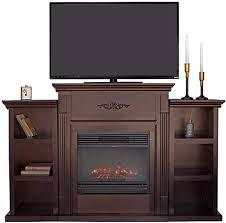 xtremepowerus barton mantel tv stand