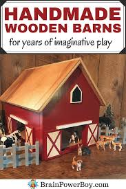 handmade wooden toy barns for years of