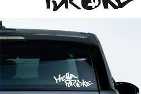 Hella Broke Vinyl Decal Graphic Sticker For Boat Car Truck Suv Van Motorcycle Auto Rear Window Helmet Cell Phone Ta Rear Window Decals Vinyl Decals Cars Trucks