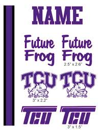 Tcu Cranial Band Decoration From High Quality Vinyl For Baby Helmets