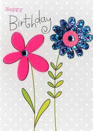 flowers happy birthday embellished