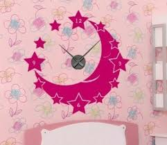 Style And Apply Moon And Stars Wall Clock Wall Decal Wayfair