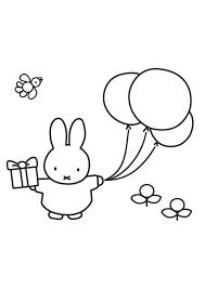 Nijntje Mooi Die Ballon Kleurplaten Voor Kinderen Baby Tekening