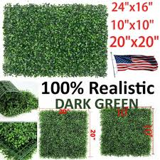 12pcs 24 X16 Wall Hedge Decor Privacy Fence Panel Grass Artificial Boxwood Mat For Sale Online Ebay