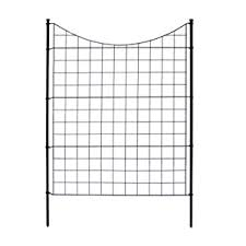 Amazon Com Zippity Outdoor Products Wf29002 Garden Metal Fence 42 1 Box 5 Panels 6 Stakes Garden Outdoor