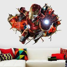 3d Iron Man Wall Decal The Decal House