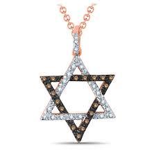 white diamond star of david pendant