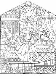 Beauty And The Beast Stained Glass Google Search Kleurplaten