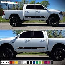 Side Stripe Decal Sticker Kit For Dodge Ram Door Fender Flare Handle 2009 2017 Diesel Trucks Dodge Ram Dodge Ram 1500