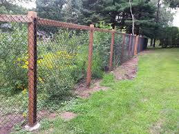 Fence Is Complete Garden Is Popping With Color Chain Link Fence Black Chain Link Fence Backyard Fences