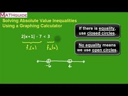 solve absolute value inequalities by