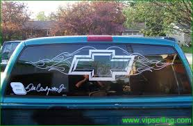 Chevrolet Chevy Flame Bowtie Rear Window Decal Vipselling Com