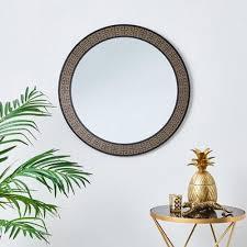 twist white 86x86cm wall mirror gold