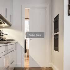 walnut and white primed interior doors