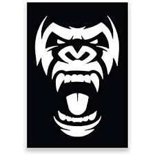 Amazon Com More Shiz Gorilla Face Vinyl Decal Sticker Car Truck Van Suv Window Wall Cup Laptop One 5 Inch Decal Mks1199 Automotive
