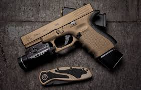 wallpaper gun background knife glock