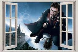 Hogwarts Harry Potter 3d Window View Decal Graphic